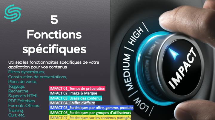 5 fonctions spécifiques